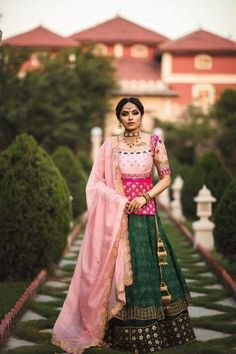 Top Most Featured Gujarati Bridal Lehenga Collection by Annu's Creations Call WhatsApp for Purchase or inquery : Bridal Lehenga Online, Designer Bridal Lehenga, Indian Bridal Lehenga, Choli Blouse Design, Choli Designs, Lehenga Designs, Lehnga Dress, Lehenga Choli, Green Lehenga