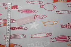 Stoff Tiermotive - beschichtete BW FISCHE rosa pink orange - ein Designerstück von naehglueck bei DaWanda