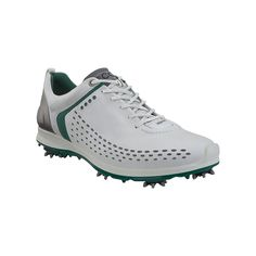 Save $120 no coupon code needed! ECCO Men's Biom G2 Spiked Golf Shoes - White/Green at Golfsmith.com