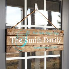Family Embellishment Sign- FREE SHIPPING - Porch Sign- Wood Signs- Door Hanger- Porch Decor- Front Porch Sign- Door Sign- Personalized Sign