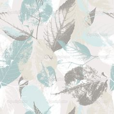 Абстрактный бесшовный паттерн с листьями и цветами фона с цветами Грандж текстуры