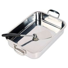 Invitations® 2-Piece Stainless Steel Lasagna Pan Set - BedBathandBeyond.com