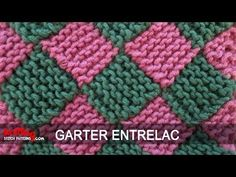 Garter Entrelac Knitting Super video.  Written instructions and silent demonstration.  Very easy.