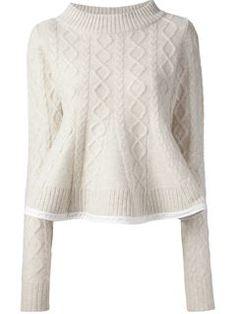 Sacai Cable Knit Sweater - Dante 5 Women - Farfetch.com