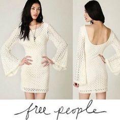 Fp Gypsy Lace Crochet Bodycon Mini Dress
