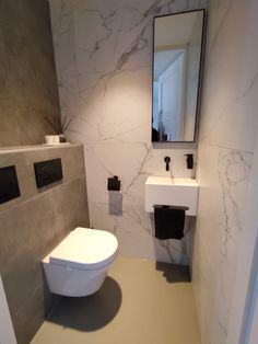 Small Downstairs Toilet, Small Toilet Room, Guest Toilet, Downstairs Bathroom, Toilet And Bathroom Design, Small Toilet Design, Bathroom Design Luxury, Bathroom Interior, Modern Toilet Design