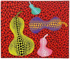 """thunderstruck9: """"Yayoi Kusama (Japanese, b. 1929), Gourds, 1989. Acrylic on canvas, 38 x 45 cm. """""""