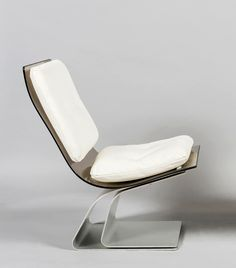 Maison Jansen; Stainless Steel and Lucite Lounge Chair, c1970.