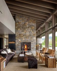 Rooms Home Decor, Living Room Decor, Living Rooms, Bedroom Decor, Bedroom Rustic, Bedroom Modern, Montana Ranch, House Windows, Ranch Style