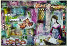 Art journal page  #artjournal #artjournalspread #mixedmedia