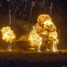 Burning Man Spaceship Explodes In Nevada, Results In Epic Snapshot