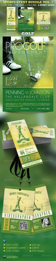 Sports Event Template Bundle Vol 1: Golf - $10.00