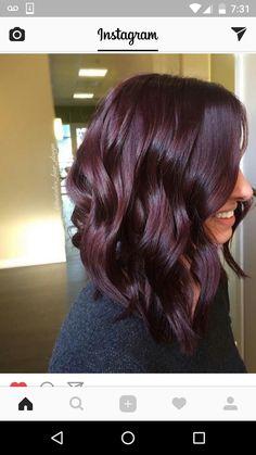 trendy hair color ideas for brunettes for fall burgundy hairstyles . - burgundy hair - trendy hair color ideas for brunettes for fall burgundy hairstyles . Plum Hair, Purple Hair, Ombre Hair, Burgandy Short Hair, Burgendy Hair, Maroon Hair, Winter Hairstyles, Trendy Hairstyles, Burgundy Hairstyles