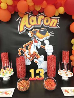 Irene R's Birthday / Flamin Hot Cheetos - Photo Gallery at Catch My Party Baseball Theme Birthday, Mexican Birthday, 10th Birthday Parties, Birthday Party Themes, Mexican Dessert Table, Sleepover Food, Teenage Parties, Mexican Party Decorations, Girl Spa Party