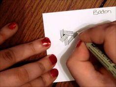 ▶ Tangle Tutorial: Baton - YouTube