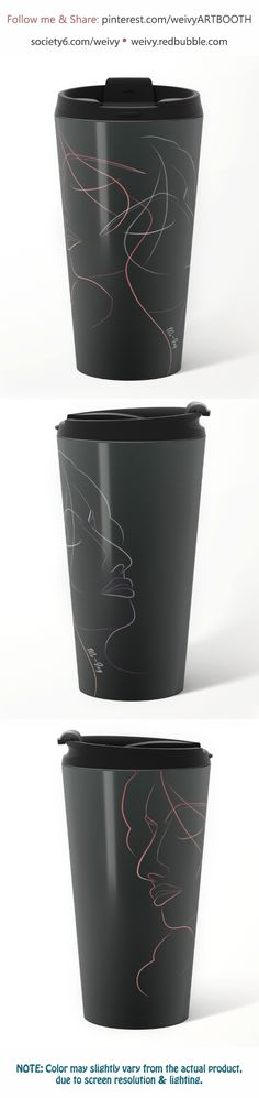 Authîel Rainbow Minimalist Travel Mug by weivy Rainbow Metal, Presents For Friends, Good Cause, Beach Towel, Line Art, Travel Mug, Ivy, Coffee Mugs, Minimalist
