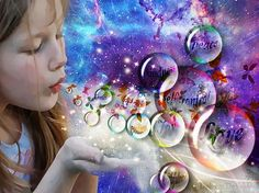 Girl blowing bubbles. 17 Best images about My prophetic art board on Pinterest