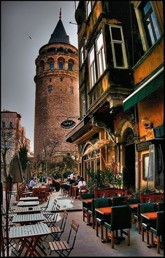 Galata Tower, where Hezarfen Ahmet Celebi left himself to the sky to take Istanbul under his wing. - Serpil Gödek - - Galata Tower, where Hezarfen Ahmet Celebi left himself to the sky to take Istanbul under his wing. Places Around The World, Oh The Places You'll Go, Travel Around The World, Places To Travel, Places To Visit, Around The Worlds, Wonderful Places, Beautiful Places, Turkey Travel
