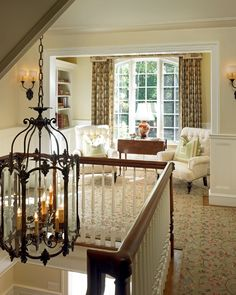 Landing Decor, Stair Landing, Home Interior, Interior Decorating, Country Interior, Decorating Ideas, Halls, Stairs Architecture, House Stairs
