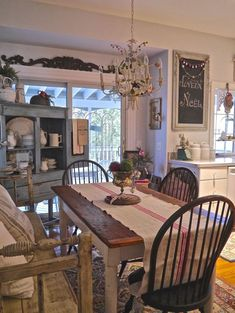 French Country Dining Room Table and Decor Ideas (60) #countrybathrooms #PrimitiveDiningRooms