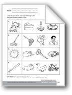 Phonemic Awareness: Beginning Sounds. Download it at Examville.com - The Education Marketplace. #scholastic #kidsbooks @Karen Echols #teachers #teaching #elementaryschools #teachercreated #ebooks #books #education #classrooms #commoncore #examville
