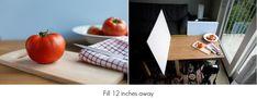 Food photography lighting tips.