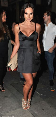 Show-stopper: Vicky Pattison showed plenty of skin during a wild night out with friends in...