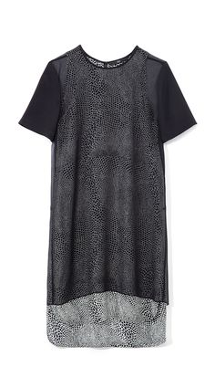 Tibi Nelio Dot Short Sleeve Dress