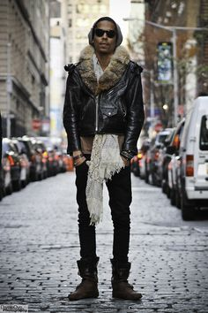 "dweleoye:    ""Furry Leather""  Interested in street fashion?  Check out http://www.facebook.com/DweleOyePhotography"