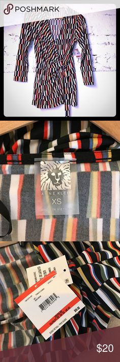 Anne Klein faux wrap top XS. New with tags Multi color Anne Klein faux wrap top . XS Anne Klein Tops Blouses