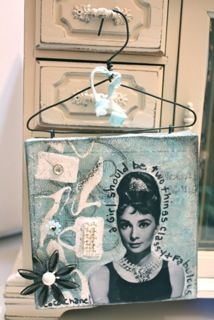 "Love this! Gorgeous ""Audrey Hepburn"" mini canvas art ..."