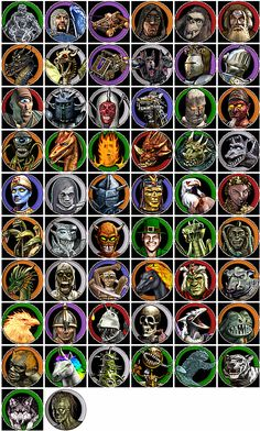 Heroes of might and magic IV All unit portraits. by Flipsie