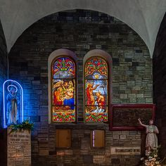 Maison Lorin, Stained glass of the Chapel in Notre-Dame Cathedral in Saigon, Hô-Chi-Minh-City, Vietnam Ho Chi Minh Ville, Architecture Romane, Notre Dame Basilica, Architectural Antiques, Stained Glass Windows, 19th Century, Old Things, French, City