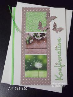 Einladungskarten - Karte Konfirmation Kommunion Einladung - ein Designerstück von happy-papers bei DaWanda