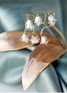 lily of the valley, metal, wire, glass, floral, woodland