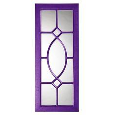 Red Barrel Studio Traditional Accent Mirror with Purple Trim. #purplemirror #accentmirror #mirrors