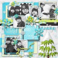1. Snow And Ice by Kristin Aagard Designs  2. Grasshopper Pie Template by Little Green Frog Designs