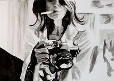 Fine Art Print of Woman Smoking van KimLegler op Etsy, £20.00