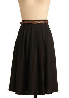 Breathtaking Tiger Lilies Skirt in Black