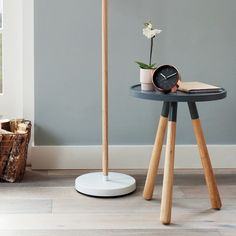 Karlsson Alarm Clock Minimal - Black - small copper desk clock