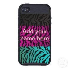 Skinit Cargo iPhone 4 Case pink, aqua, black