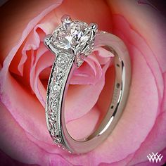 Ritani Romantique Diamond Engagement Ring with 0.904ct A CUT ABOVE