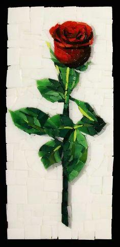 Awesome #mosaic rose #mosaicflowers #mosaicart