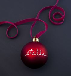 DIY Christmas Ornaments :) Personalized = LOVE!