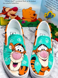 Behind The Scenes By shannys_shoes Custom Vans Shoes, Vans Slip On Shoes, Custom Painted Shoes, Hand Painted Shoes, Disney Painted Shoes, Disney Shoes, Disney Vans, Moana Shoes, Cartoon Disney
