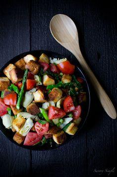 Spring Panzanella Salad. #food