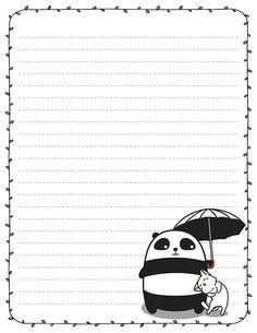 Kawaii Diy, Kawaii Cute, Kawaii Makeup, Kawaii Room, Kawaii Stuff, Kawaii Anime, Kawaii Stationery, Stationery Paper, Cute Panda Wallpaper