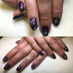 Winter inspired artistic gelish. Done by Hayley Partridge @ Feel better Days