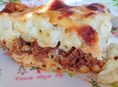 Pastitsio  (Greek Lasagna) ----one of my favorite Christmas meals and what a fabulous lasagna; so many yummy layers!