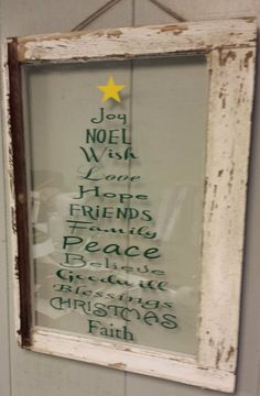 Old Vintage Window Christmas Personalized by VaughnCustomCreation